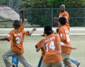 Ricky Williams with some Ricky's Kids